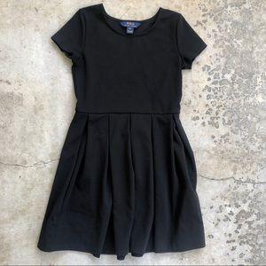 Polo Ralph Lauren Girls pleated Black Cotton Dress